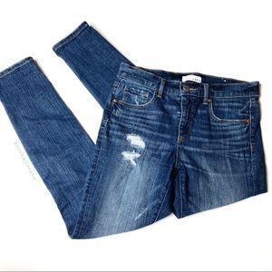 Loft Modern Skinny Distressed High Rise Jean 28